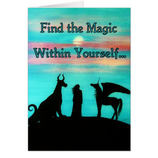"MoonMyth ""Find the Magic Within Yourself"" Card"
