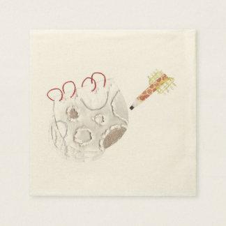 Moonpad and Pen Ecru Napkins Disposable Napkin