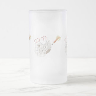Moonpad and Pen Frosted Jug Frosted Glass Beer Mug