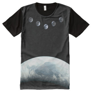 Moonphases 5 Earth in Space All-Over Print T-Shirt
