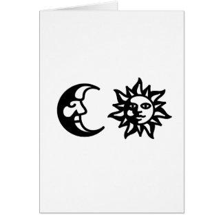 MOONPRIESTESSA SUN MOON CARD BLACK