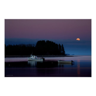 Moonrise, Cook's Cove, Guysborough County, N.S. Poster