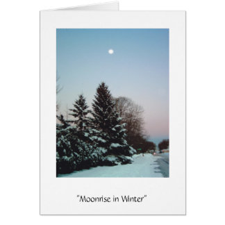 Moonrise in Winter Card