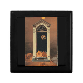 Moonrise on Colonial Mars Small Square Gift Box