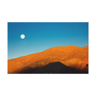 Moonrise over Mojave desert Stretched Canvas Prints