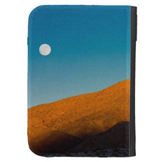 Moonrise over Mojave desert Kindle Case