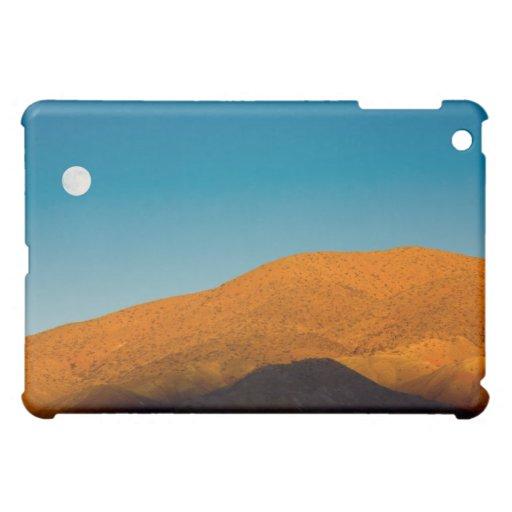 Moonrise over Mojave desert Cover For The iPad Mini