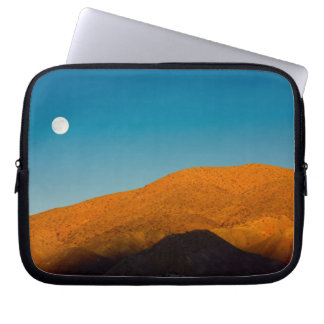 Moonrise over Mojave desert Laptop Computer Sleeve
