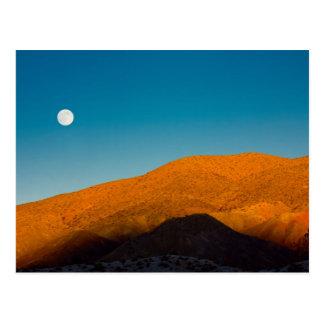 Moonrise over Mojave desert Postcard