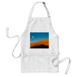 Moonrise over Mojave desert Standard Apron