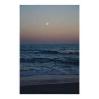 Moonrise Over The Atlantic #4705 Print