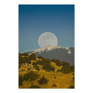 Moonrise over the Sangre de Cristo Mountains, Photo Print