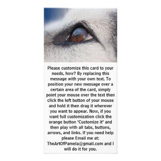 Moon's Reflection on Dog's Eye Customized Photo Card