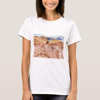 Moonscape lunar landscape with rocks on island T-Shirt