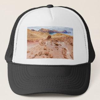 Moonscape lunar landscape with rocks on island trucker hat