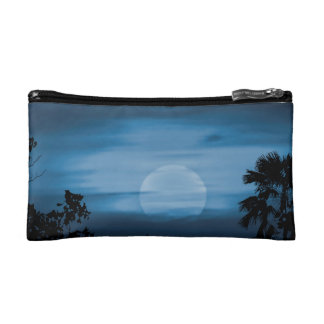 Moonscape Silhouette Ilustration Cosmetics Bags