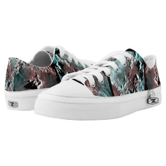 Moonscape Space Photo Anaglyph Printed Shoes