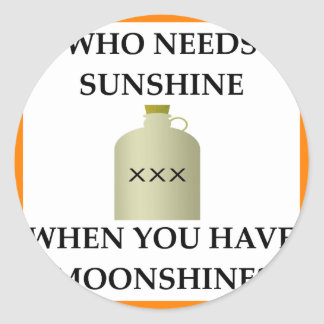 MOONSHINE CLASSIC ROUND STICKER