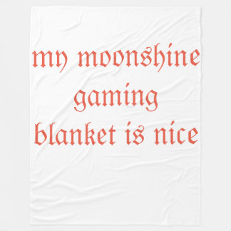 moonshine gamer fleece blanket