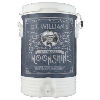 Moonshine Hillbilly Medicine Vintage Custom Blue Drinks Cooler