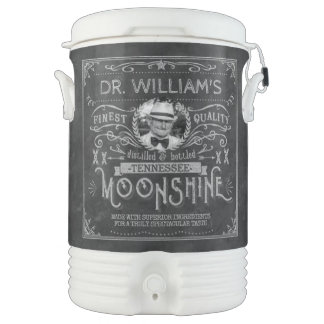 Moonshine Hillbilly Medicine Vintage Custom Gray Drinks Cooler