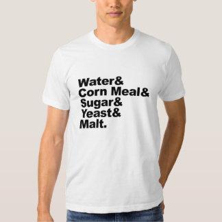 Moonshine ingredients tee shirts