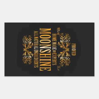 Moonshine label rectangular sticker