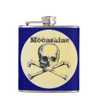 Moonshine skull and bones flask
