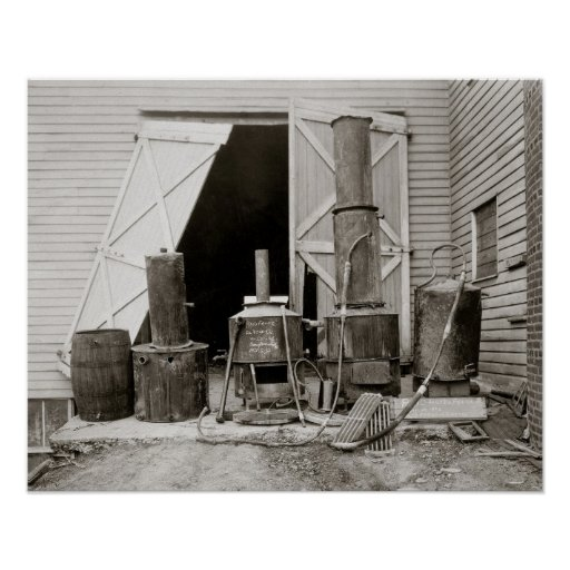 Moonshine Still Seized by Police, 1926 Print