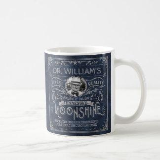 Moonshine Vintage Hillbilly Medicine Custom Blue Coffee Mug