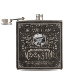 Moonshine Vintage Hillbilly Medicine Custom Brown Flask