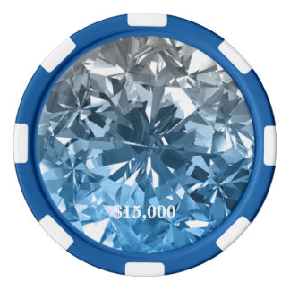 Moonstone Blue Diamond Gem Stone Poker Chip Stripe
