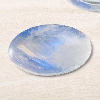 Moonstone Round Paper Coaster