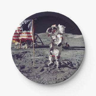 Moonwalk Apollo 17 Paper Plate