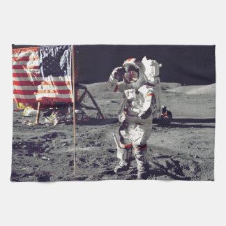 Moonwalk Apollo 17 Tea Towel