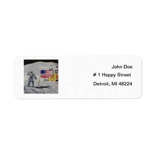 Moonwalk Return Address Label