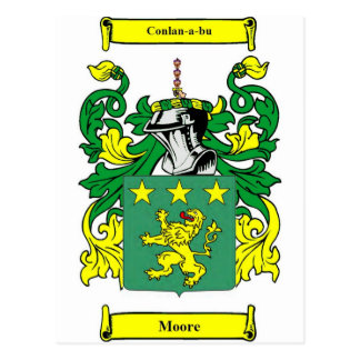 Moore Coat of Arms Postcard