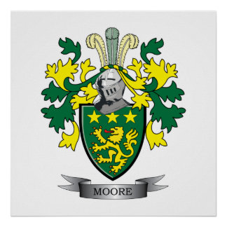 Moore Coat of Arms Poster