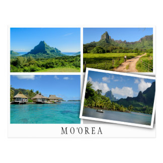 Moorea landscapes collage with loose image postcard