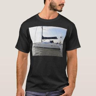 Moored Sailboat At Dawn T-Shirt