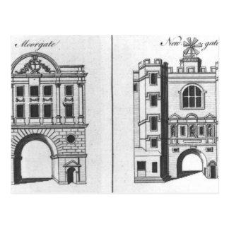 Moorgate and Newgate Postcard