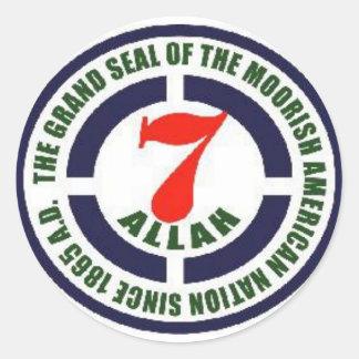 Moorish American GRAND SEALS Round Sticker