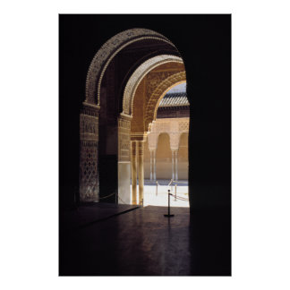 Moorish arch, The Alhambra, Poster