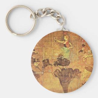 """Moorish Dance (Â """"Les Alme""""),  By Toulouse-Lautrec Key Ring"""