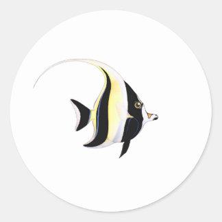 Moorish Idol Fish Classic Round Sticker