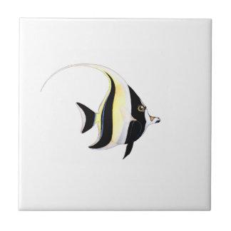 Moorish Idol Fish Small Square Tile