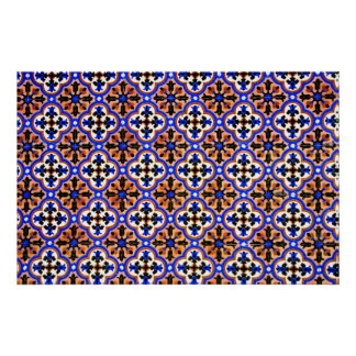 Moorish tile, The Alhambra, Spain Poster