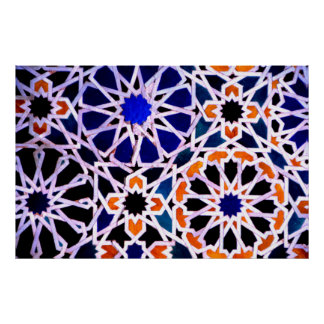 Moorish tile, The Alhambra, Spain Posters