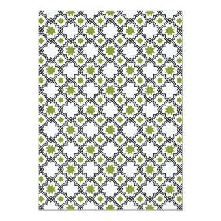Moorish Wedding Invitation Design - Black & Green