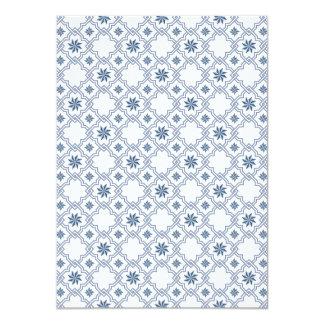 Moorish Wedding Invitation Design - Blue